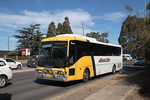 Shoal Bus 5160 MO Denning Phoenix/NCBC Protege on a school run in Bomaderry
