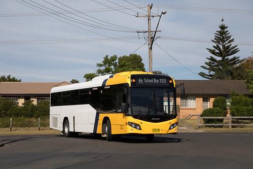 Shoal Bus 2395 MO MAN 19.320/Custom SB80 returning to the depot