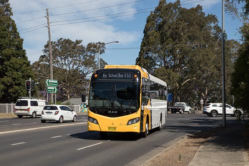 Shoal Bus 8515 MO MAN 19.320/Custom SB50 on a school run in Bomaderry