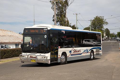 Stuart's 2360 MO Denning Phoenix LF arriving at Stockland Nowra