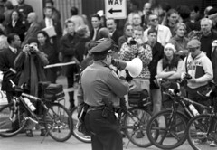 Police and WTO protesters, 1999