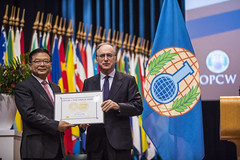 Mr Cheng Tang: The OPCW-The Hague Award Ceremony