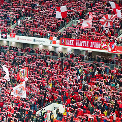 Russia, Moscow - Red like the FC Spartak fans - September 2018