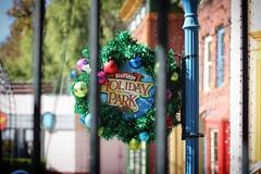 Holiday Jail #sixflags #magicmountain #santaclarita #christmas #holiday #wreath #canon1500d #50mm #myfavoritelens