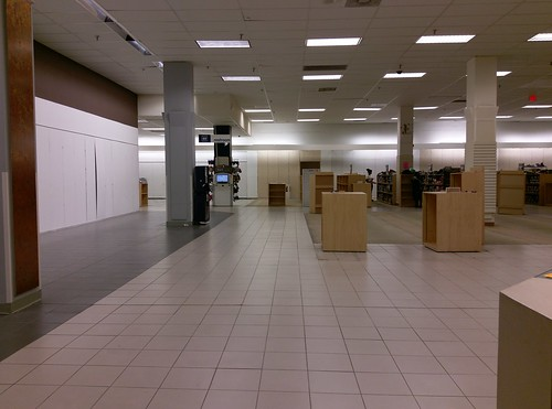 Former Whitehaven Sears juniors department, looking toward shoes