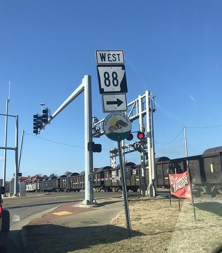 Arkansas 88 at railroad crossing