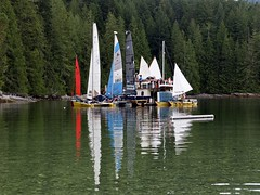 lunch stop in Robertson Lake Bay, Cortes Island