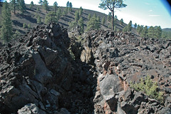 Fissure & squeeze-up (Bonito Lava Flow, upper Holocene, erupted from Sunset Crater; San Francisco Volcanic Field, Arizona, USA) 1