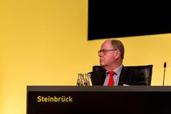 Stellvertretender Bundesvorsitzender Peer Steinbrück auf der Borussia Dortmund Mitgliederversammlung