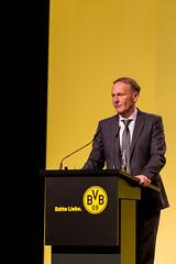 BVB-Geschäftsführer Watzke zieht Resümee und spricht über Trainer Lucien Favre auf der Mitgliederversammlung in Dortmund