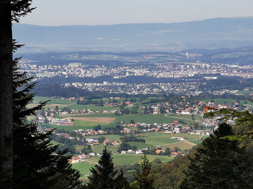 Vue sur l'gglomération de Fribourg