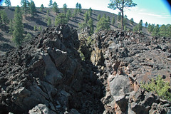 Fissure & squeeze-up (Bonito Lava Flow, upper Holocene, erupted from Sunset Crater; San Francisco Volcanic Field, Arizona, USA) 2