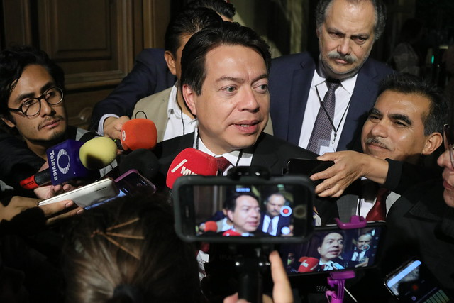 07/11/2019 Entrevista Dip. Mario Delgado en Palacio Nacional
