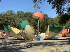Claes Oldenburg Dropped Bowl With Scattered Slices and Peels Downtown Miami