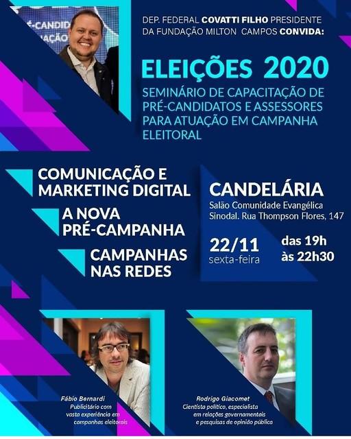 22/11/2019 Seminário de Capacitação de Pré-candidatos - Eleições 2020