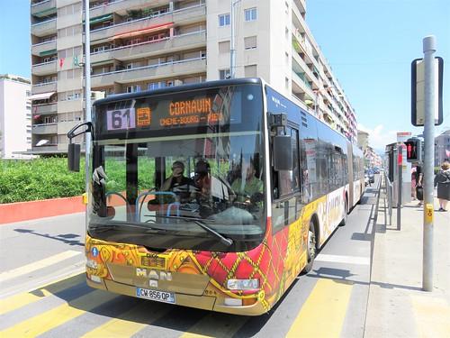 Bus transfrontalier  Genève Annemasse ligne 61 (Suisse-France)