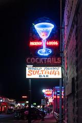 World Famous Sultana Bar - Neon Sign