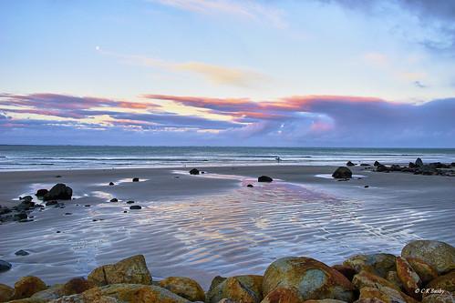 Sunset over Mitchells Bay, Riverton