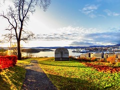 A sunny day. Oslo seen from Ekeberg sculpture park.