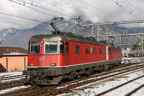 SBB Cargo Re 6/6 11673 Cham, Bellinzona