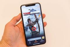 Tomb Raider definitive Edition auf dem iPhone X als App