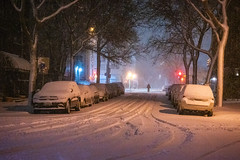 Snowstorm biking