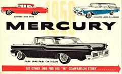 1958 Mercury Postcard