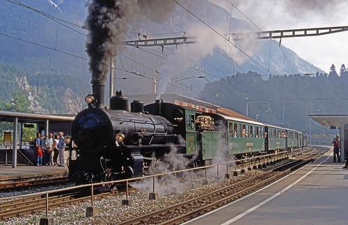 R11654.  RhB 107 at Reichenau-Tamins.