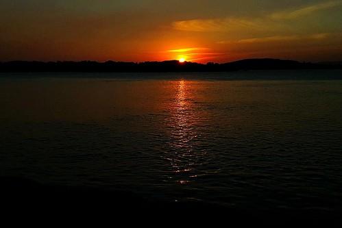 Hey beautiful sunset over Lake Macquarie
