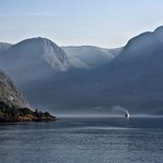 Steaming Up The Fjord by John Russell