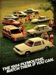 The 1984 Plymouths