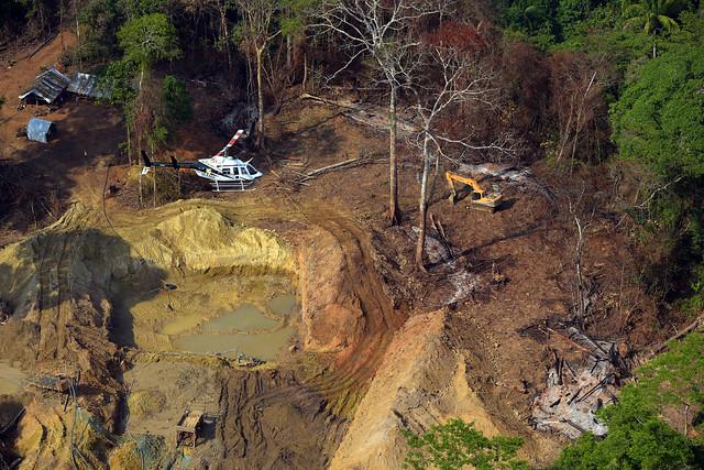 Il gruppo di ispezione specializzato Pará Brasil Ibama (GEF) effettua operazioni di estrazione illegale nella terra indigena di Kayapó - Crediti: Foto: Secom Ibama