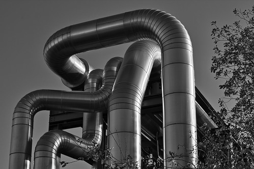 Entwined pipes