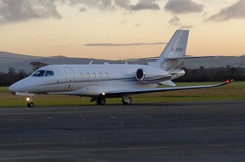 Air Charter Scotland Ltd Textron Aviation 680 Citation Latitude G-SHUI seen at Dublin Weston Airport EIWT