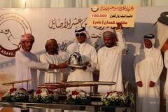 تتويج الفائزين بالرموز عن الأيام الثلاثة الماضية (مهرجان قطر الخامس عشر للأصايل)