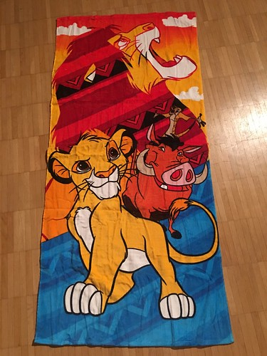 2019 Kohl's Disney The Lion King Adult & Young Simba, Timon & Pumbaa Beach Towel