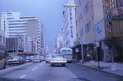 Flagler Street Downtown Miami Kodachrome Slide 1962