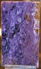 Charoitite (charoite-dominated potassic metasomatite) (Early Cretaceous, 115-120 Ma; mine in the headwaters of the Davan-Ditmara streams area, south of Olekminsk, Yakutia, Siberia, Russia) 4