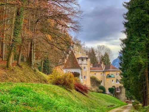 Schloss Hohenstaffing in autumn near Kufstein, Tyrol, Austria