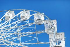 Ferris wheel, close-up view
