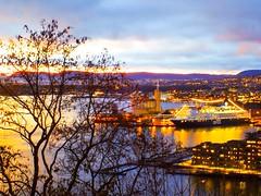 Sunset. Oslo, seen from Ekeberg.