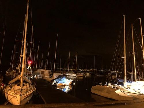 2 h du mat j ai des frissons...port de Morges