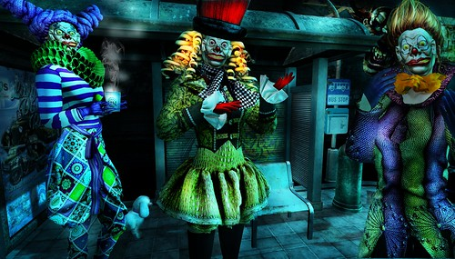 The Dark Circus:  Bus Stop Clowns
