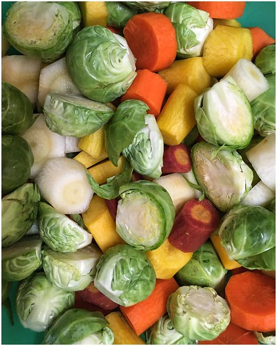 Vegetables Ready to Roast for Thanksgiving