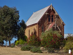 Silverton near Broken Hill. This old silver mining town began in 1883. The fine stone Catholic Church was built in 1886 before the silver petered out in the 1890s. Silverton is now a ghost town.