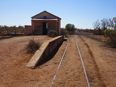 Silverton ghost town. Old railway to Broken Hill. Ran 1887 to 1969. This is the ticket office, well and railway station .