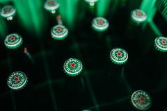 Plugs on Haineken beers in original box
