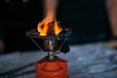 Coal to fuel the hookah. Flame and fire closeup