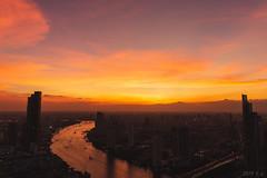 Sunset over Chaophraya, Bangkok