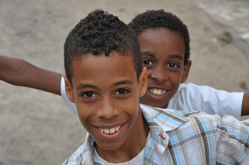 Cape Verde - boys in Mindelo